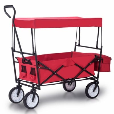 Artist Hand Outdoor All-Terrain Folding Canopy Utility Wagon Folding Collapsible