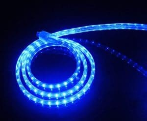 CBConcept UL Listed, 6.6 Feet, 720 Lumen, Blue, Dimmable, 110-120V AC Flexible Flat LED Strip Rope