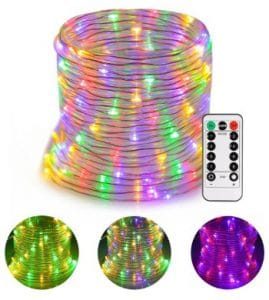 Battery LED Rope Lights, Greenclick 120 LEDS LED String Lights 45Ft