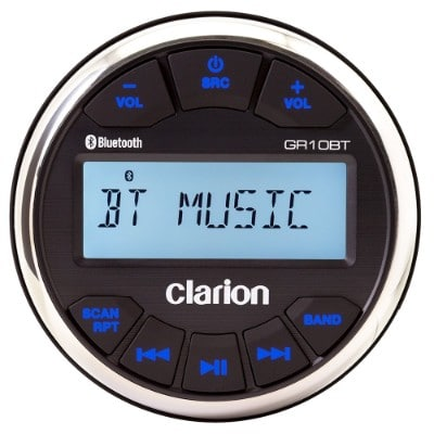 Clarion GR10BT Marine USB:MP3:WMA Gauge-Hole Digital Receiver with Built-In Bluetooth