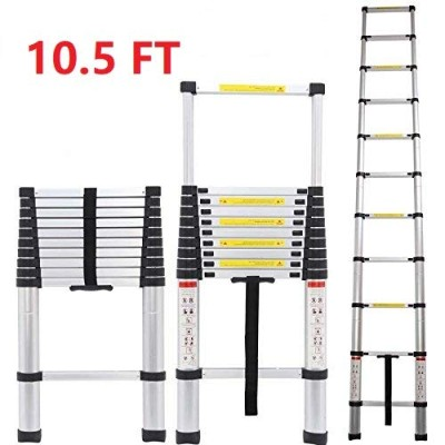 Homgrace 10.5 FT Aluminium Multi-Purpose Telescopic Ladder Foldable Extension Steps