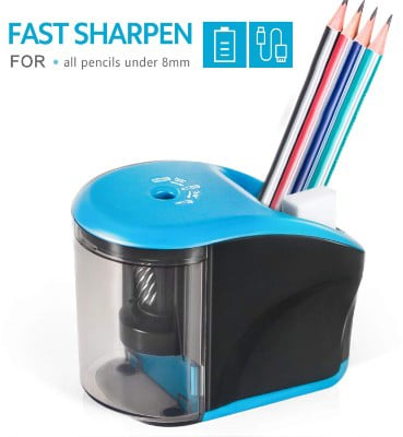 Electric Pencil Sharpener, INVOKER Auto Pencil Sharpener Heavy Duty Helical Blade