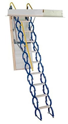 Rainbow M2554 25-1:2L x 54W Prestige Telescoping Attic Ladder: Stair- 7'4H - 9'10H