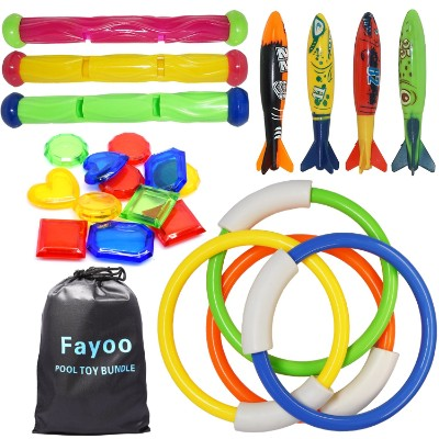 Fayoo 23 Pack Underwater Swimming:Diving Pool Toys