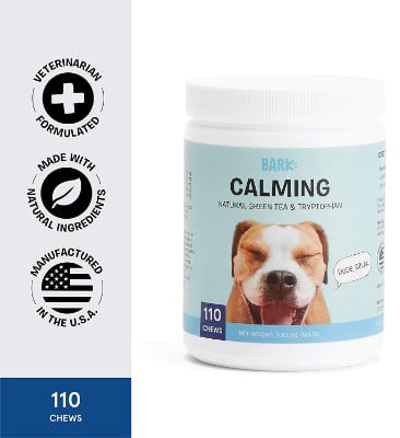 BarkBox Veterinarian Formulated Dog Calming Supplement for Anxiety Relief