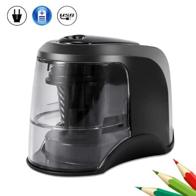 Electric Pencil Sharpener, Auto & Safety Features Electric Pencil Sharpener