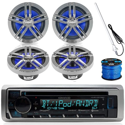 Kenwood Marine Boat Outdoor Bluetooth CD MP3 USB:AUX iPod iPhone Stereo Receiver