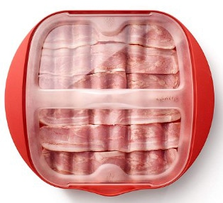 Lekue Microwave Bacon Maker:Cooker with Lid