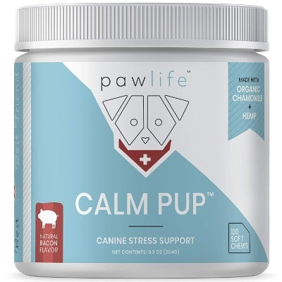 pawlife Calming Treats for Dogs - Hemp Oil Infused Soft Chews for Dog Anxiety Support