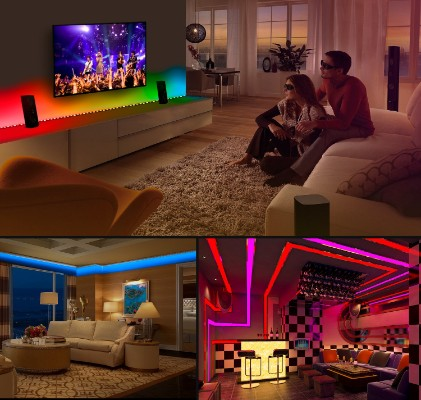 MINGER DreamColor LED Strip Lights Built-in IC with APP