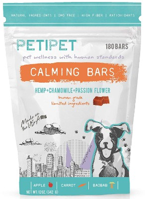 PETIPET Dog Calming Treats- Natural Dog Anxiety Relief Bars