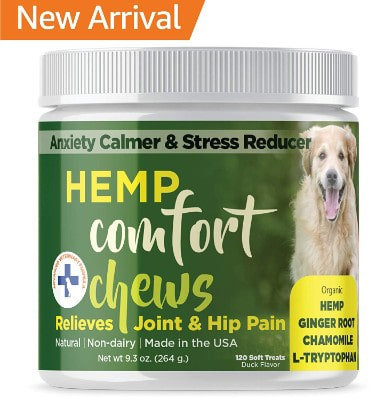 Dog Anxiety Relief with HEMP OIL-Calming Treats for Dogs for Separation Anxiety