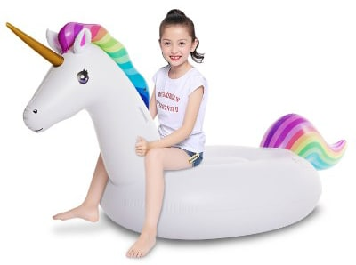 Jasonwell Big Inflatable Unicorn Pool Float Floatie Ride On