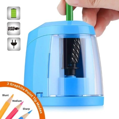 SMARTRO Pencil Sharpener, Best Heavy Duty Steel Blade