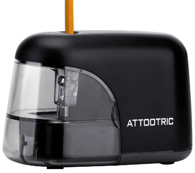 Attootric Electric Pencil Sharpener AA Battery Pencil Sharpener Powered