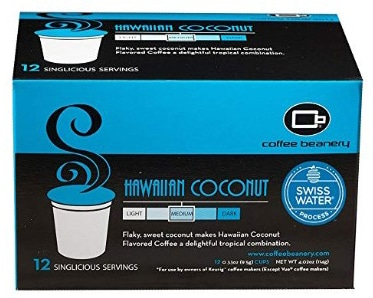 Coffee Beanery Hawaiian Coconut SWP Decaf Singlicious Servings Single-cup Coffee Pack Sampler