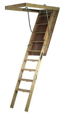 Louisville Ladder S305P Big Boy Wood Attic Ladder