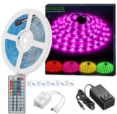 MINGER LED Strip Light Waterproof 16.4ft