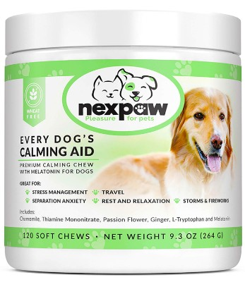 NEXPAW Calming Treats with Melatonin for Dogs
