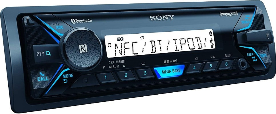 Sony DSXM55BT Marine Digital Media Receiver with Bluetooth and SiriusXM Ready