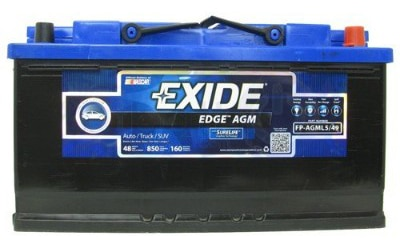 Exide Edge FP-AGML5:49 Flat Plate AGM Sealed Automotive Battery