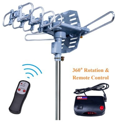 2019UPDATED-150 Miles-Amplified Outdoor TV Antenna