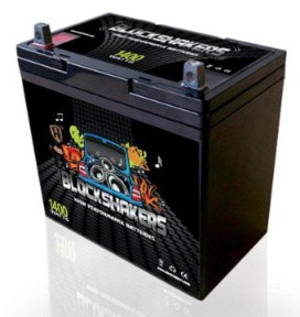Black 12V 55AH 1400 Watts NB:T5 Car Audio Battery
