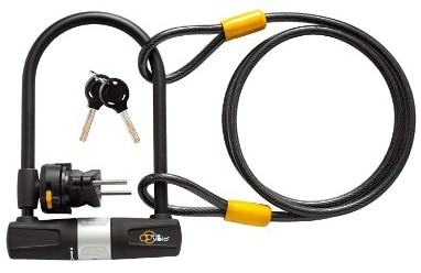 Via Velo Bike U Lock with Cable Bike Lock Heavy Duty Bicycle U-Lock