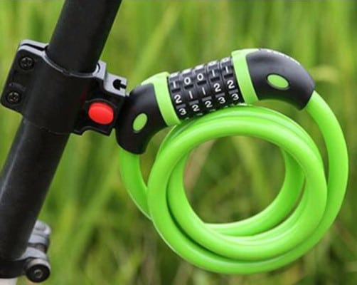GoFriend Bike Lock High Security 5 Digit Resettable Combination Coiling Cable Lock