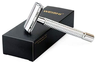 WEISHI Chrome Long Handle Version Butterfly Open Double Edge Safety Razor