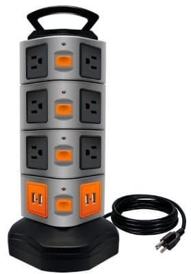 Power Strip Tower, LOVIN PRODUCT Surge Protector Electric Charging Station