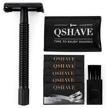 QSHAVE Double Edge 4 inch Long Handle Safety Razor