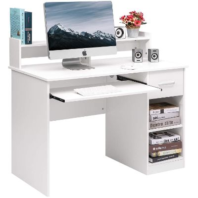 Merax Home Office Desk Computer Desk Wooden PC Laptop Desk