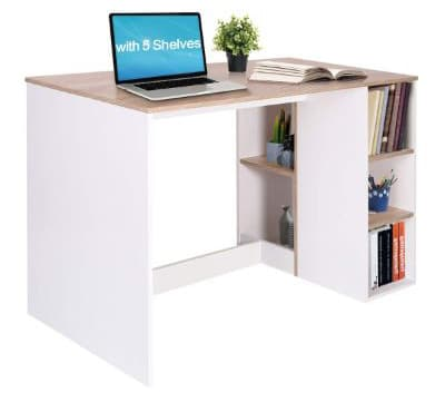 Writing-Computer Desk with Storage, Large Students-Study Desk