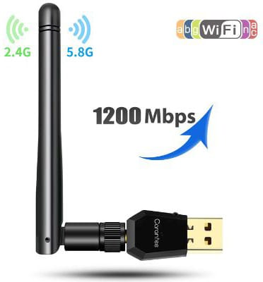 Carantee USB WiFi Adapter 1200Mbps, [2019 Upgrade] Wireless Network WiFi Dongle