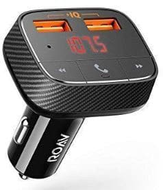 Roav SmartCharge F0, by Anker, Wireless Bluetooth FM Transmitter for Car