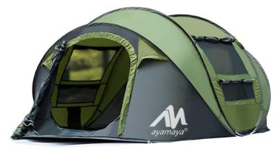AYAMAYA Tents 3-4 Person:People:Man Instant Pop Up Easy Quick Setup