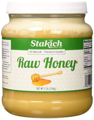 Stakich RAW HONEY - 100% Pure, Unprocessed, Unheated