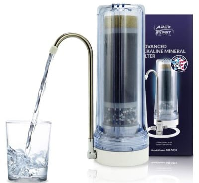 Apex Countertop Drinking Water Filter, Alkaline, Clear