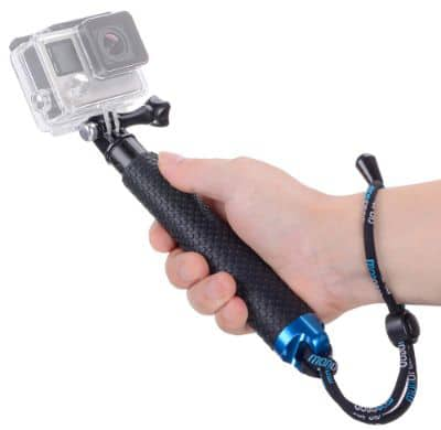 Vicdozia Portable Hand Grip Waterproof Extension Selfie Stick Handheld Monopod Adjustable Pole
