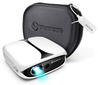 VANKYO Burger 101 Rechargeable DLP Wireless Pico Projector, 2600 LUX Mini Projector