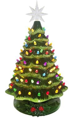 Christmas Is Forever 20 Lighted Ceramic Tree
