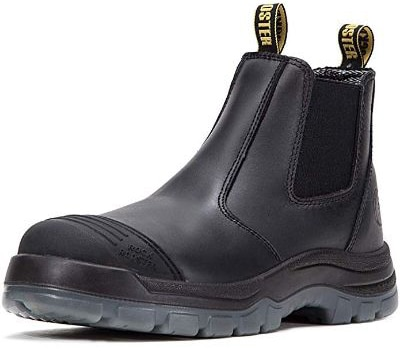 ROCKROOSTER Work Boots for Men, Steel Toe, Poron XRD, Coolmax, Antistatic