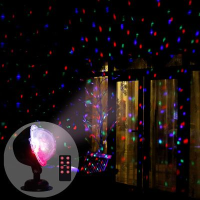 Vanthylit Multi Function Rotating Falling Snow Projector for Xmas