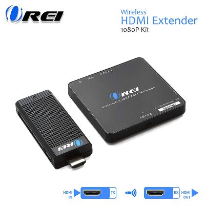 Wireless HDMI Transmitter & Receiver, by OREI - Extender Full HD 1080p