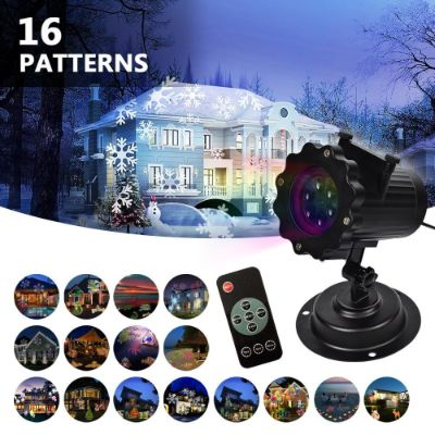 LIFU Christmas Lights Projector - 2018 Upgrade Version 16 Patterns LED Projector Landscape Lamp