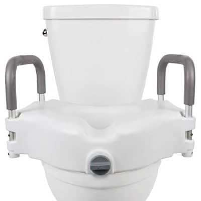 Vive Raised Toilet Seat - 5 Portable, Elevated Riser with Padded Handles
