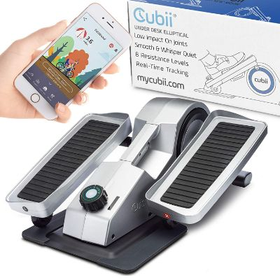 Cubii Pro under Desk Elliptical, Bluetooth Enabled, Sync with Fitbit and HealthKit