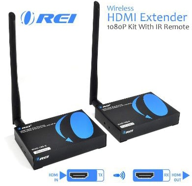 OREI Wireless HDMI Transmitter Receiver Extender 1080P Kit with IR Remote - Up to 165 Ft
