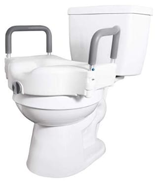 Vaunn Medical Elevated Raised Toilet Seat & Commode Booster Seat Riser